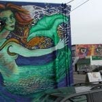 Barrio Mermaid - Barrio Logan San Diego, California.  Mario Torero artist 2007