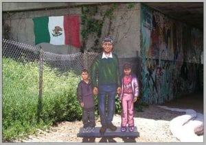 Mario Torero Artist - Cesar Chavez - 6 ft metal sculpture.   Cesar Chavez Pkwy & Logan Avenue, Barrio Logan San Diego. Dedicated in  2003 for the  Cesar Chavez birthday celebration.