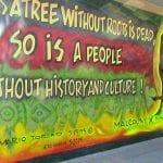 Mario Torero Artist - Malcolm X Mural (1993) Renovation Southcrest Park San Diego 2015