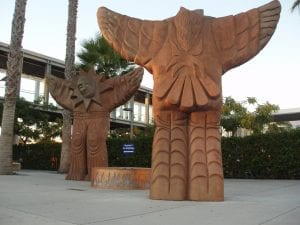 Voladores - San Diego International Airport. Stonecast. Mario-Torero-Artist 1999.